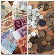 Продам банкноты и монеты.