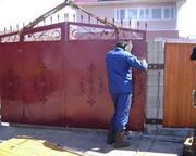 Демонтаж ворот,  крыш,  металлических конструкций,  решеток, ванн,  опор,  гаражей и т.п.
