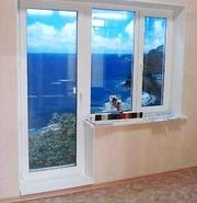 Пластиковые окна и двери,  остекление балконов и лоджий,  двери входные