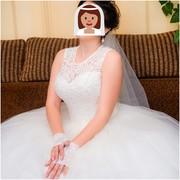 Свадебное плать б/у в хоршем состоянии